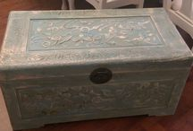 My Shabby Chic Trunks / This is the board where I post all of the trunks I have painted in the past shabby chic style.