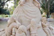 Esculturas de arena / sand art