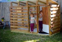 Cubby House With Pallets