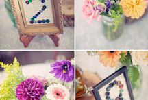 Weddings / Table Numbers / Inspiration for wedding table numbers or table names.