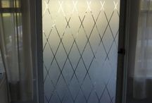 Ashley frosted front door