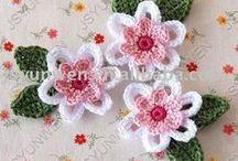 πλεκτα λουλουδια