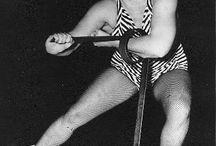 vintage girl wrestling