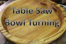 table saw bowl cutting
