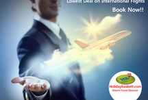 International Flight Tickets / Get Cheap International Flight Tickets on Holidaybaskett.com. Here you will get lowest airfare on International & Domestic Flights.  Just call us +91-76660-16000 and get best airfare deals for international flights and international holiday packages. Our expertise Cheap Air Tickets Booking includes Honeymoon packages to Thailand, Dubai, Maldives, Mauritius, Europe, Australia and America.