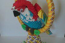 Ptaki origami