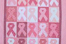 Pink ribbon breast cancer awareness .