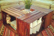 palety/drewiane skrzynki diy inspiracje