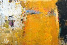 Abstract art orange