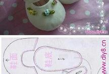 moldes de sapatinho de bebê
