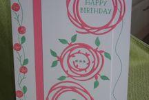 Swirly card circles