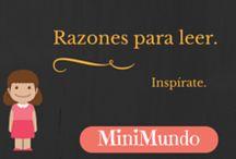 Razones para leer / Ideas, libros, rincones, frases que inspiran...