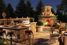Outdoor kitchen design / This collection brings an impressive mixture of outdoor kitchen design photos
