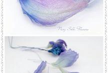 Látkové květiny