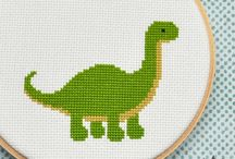 Cross stitching for baby