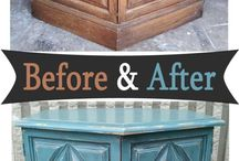 Painted & Glazed Furniture Before & After / Furniture transformed by paint, glaze & distressing. Before & after DIY inspiration from Facelift Furniture.