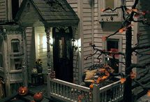 haunted dollhouse / Morticia is a haunted house I have created using a 1/24 scale wooden puzzle...  / by Dolly Bellamy