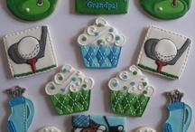 Golf sugar cookies