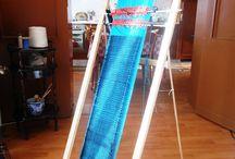 Sciarpa a telaio auto-prodotto a 4 licci
