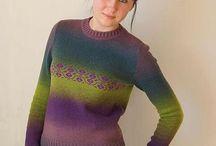 пуловер вязаный Кауни