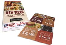 Hospitality & Leisure / Tablecloths Pub Refits Leaflets Menus Promotional Cards