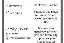 Wedding thank you's