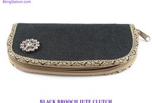 Jute Clutches - Clutch Bags / by BlingStation.com