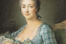 """1758 : Noblesse / En prévision de notre journée de reconstitution historique """"Revivre l'Histoire : une journée avec Mme de Pompadour"""" au château de Champs-sur-Marne. Focalisation sur la mode de l'époque."""