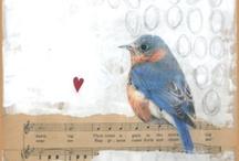 oiseaux a l'aquarelle
