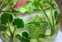 Watermelon carving /other carving foods / by Christine Smaldino