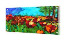 Poppies, כלניות / Fusing w 56 cm l 26 cm d 6mm