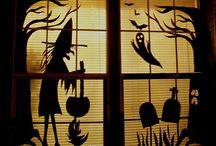 Cardboard Halloween Decor and Costumes