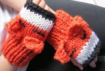 Foxy Scarf and Foxy Mittens