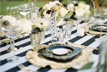 Simply Black and White / Black and white decor and tablescapes