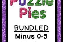 Puzzle Pies / These engaging puzzles will have your students practicing their basic skills in a fun way!  / by Heather aka HoJo