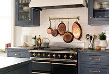 Navy blue kitchens