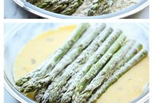 Asparagus fries for appetizer