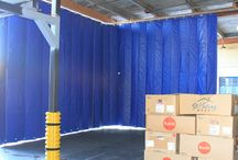 Noise Reducing Curtains / Using Acoustic products in large facilities help to reduce noise levels to safe OSHA standards. See some examples of how acoustic curtains are used in a variety of industries.