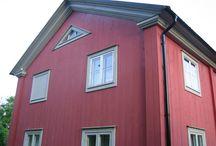 Detaljer hus trä och puts