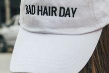 caps. / on my head.