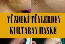 tüy yüz maskesi