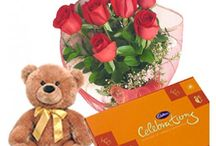 Flowers and Teddy