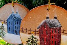 Wood Ornaments / by Rosie Sobiesiak