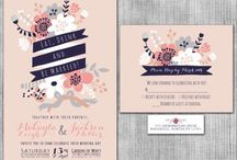 Navy and pink wedding / Navy and pink eat drink and be married