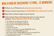 Skechers Give Thanks Pin to Win