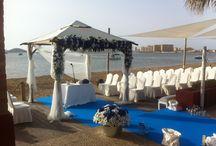 Bodas en la playa / Decoración de bodas en la playa. / Beach Weddings decoration.