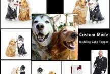 Custom Made Dog/Cat/Pet Wedding Cake Topper