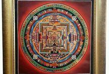 Kalachakra Mandala Thangka Painting / Kalachakra Mandala Thangka Art