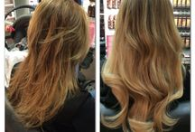 Before & After Hair Make-Overs / Before and after results with Poze Hair Extensions.