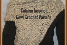 """Crocheted Womens Scarves and Cowls / A crocheted Katniss cowl inspired by the one Katniss wore in District 12 from the movie """"Catching Fire."""""""